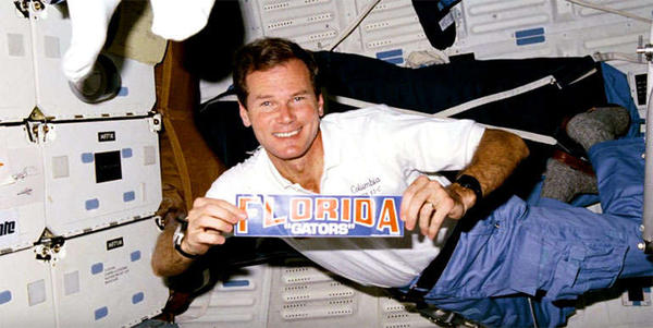 Bill Nelson on board the  Space Shuttle mission STS-61-C