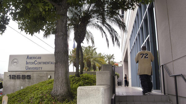 American InterContinental University, a Career Education Corp. school, is seen in Los Angeles in 2004. CEC has entered into a half-billion dollar settlement with state attorneys general over recruitment practices.