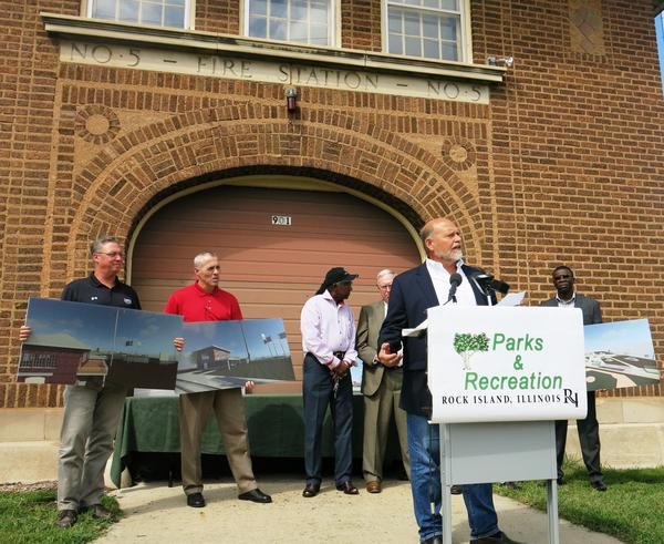 Rock Island announced plans for a football museum in the old firehouse in Douglas Park in August, 2017.