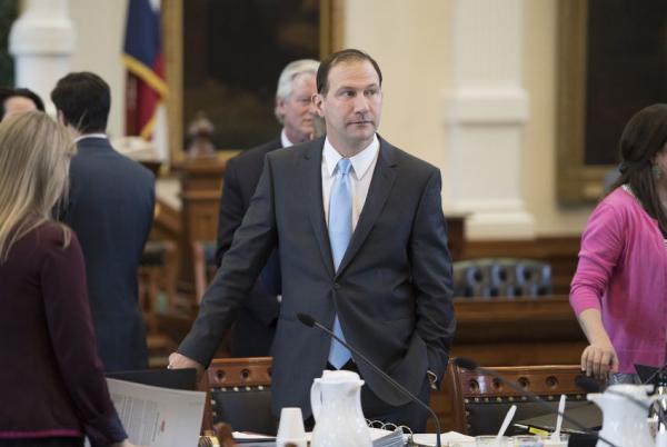 State Sen. Charles Schwertner, R-Georgetown, on the floor of the Senate in April 2017.