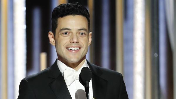 Rami Malek won a Golden Globe for his performance in the drama <em>Bohemian Rhapsody</em>, in which he played iconic singer Freddie Mercury.