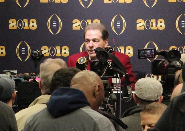 University of Alabama's Head Coach Nick Saban.