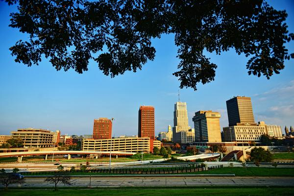 The skyline of Akron, the 43rd most innovative U.S. city according to a new report.