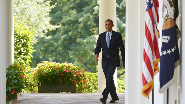 President Obama spoke on immigration at the  Rose Garden at the White House on June 30, 2014.