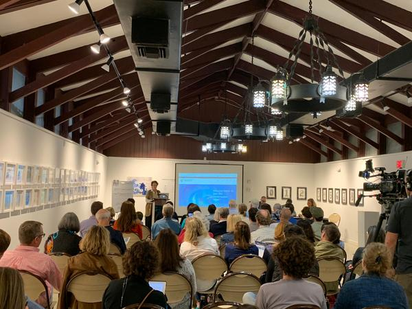 Homeowners attend the first meeting of Pinecrest's Underwater Housing Association