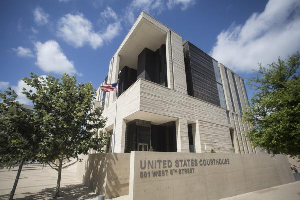 The federal courthouse in downtown Austin on July 1, 2015.