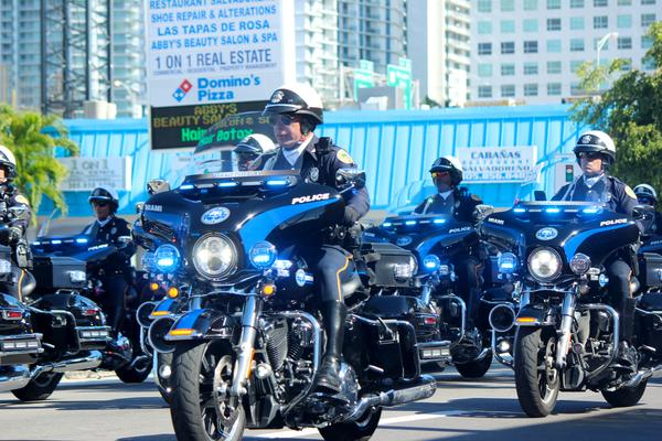 The Miami-Dade Police Department led the Three Kings Day Parade with a motorcade on Sunday, Jan. 13, 2019.