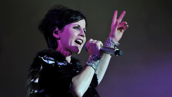 The Cranberries' Dolores O'Riordan performs at the Cognac Blues Passion festival in Cognac in 2016.