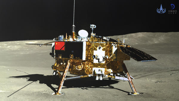 The China National Space Administration's lunar lander, seen on Jan. 11.