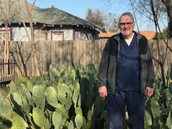 Doug Delaney spent twenty years as a professional gardener and said spending time in his gardens has helped him cope with mental illness. He fell in love with plants native to New Mexico, so he decided to plant cacti in his own backyard garden.