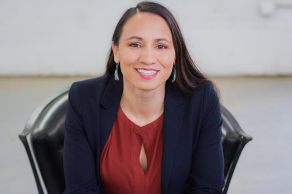 U.S. Rep. Sharice Davids (D-Kansas) met with furloughed goverment workers at her Overland Park office on Sunday.