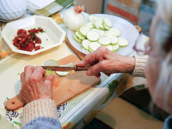 Even something as simple as chopping up food on a regular basis can be enough exercise to help protect older people from showing signs of dementia, a new study suggests.