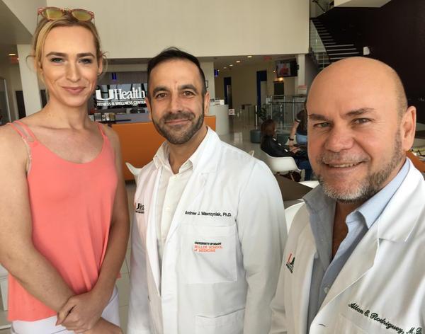 Madison Waldron, Dr. Andrew Wawrzyniak and Dr. Allan Rodriguez