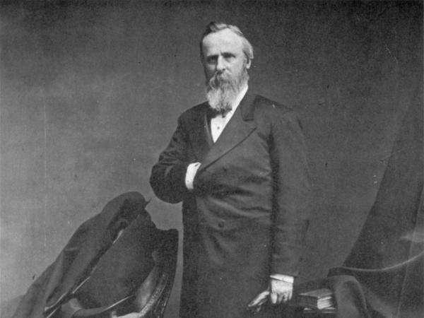 An undated portrait by Mathew Brady of Rutherford B. Hayes, 19th President of the United States.