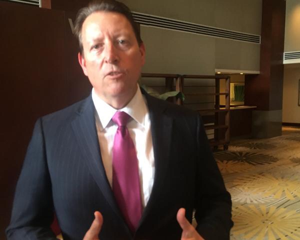 State Sen. Bill Galvano of Bradenton speaks in the lobby of the Hyatt Regency in Sarasota