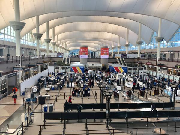 Security lines were moving smoothly through Denver International Airport on Monday. That wasn't the case in some other airports across the country due to staffing shortages during the partial government shutdown.