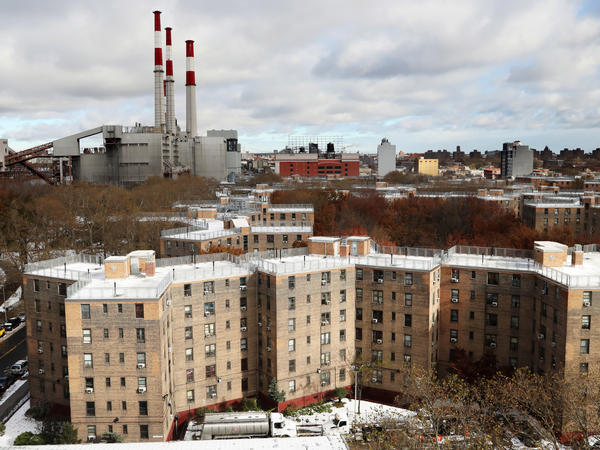 The Queensbridge Houses, the largest public housing complex in the country, near the spot where Amazon plans to put a new headquarters.