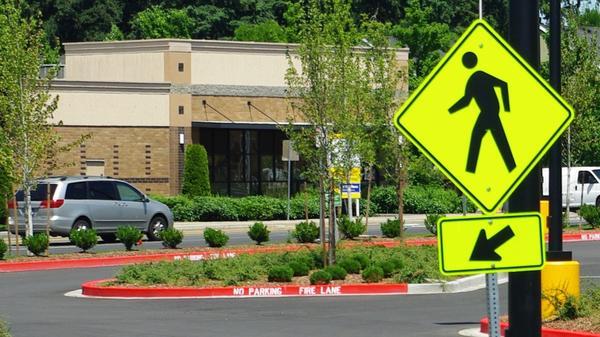 Pedestrian crosswalk.