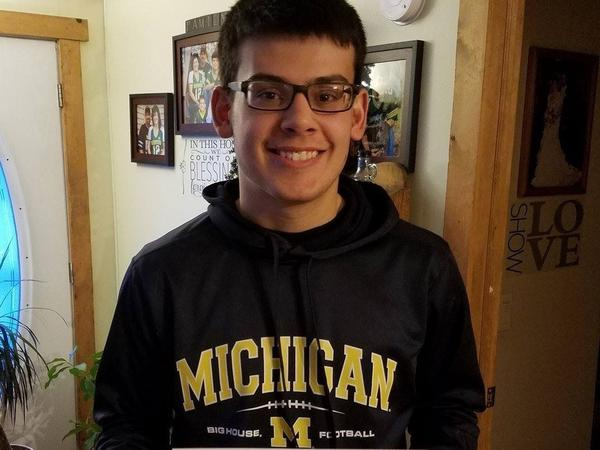 Caleb Adams received the HAIL Scholarship, and is now a sophomore at the University of Michigan.