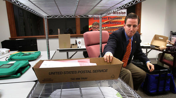 Michael Ertel in November 2012 while he was the elections supervisor of Seminole County, Fla. He resigned Thursday from his post as Florida secretary of state after photos of him in blackface emerged.