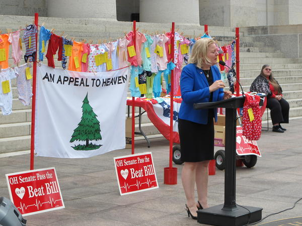 """Rally for """"Heartbeat Bill"""" at Ohio Statehouse in 2014"""