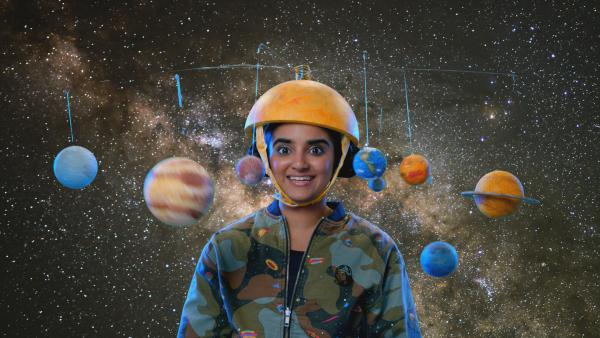 "Houston native, and UT-Austin student, Sahana Srinivasan is the host of the Netflix series, ""Brainchild."""