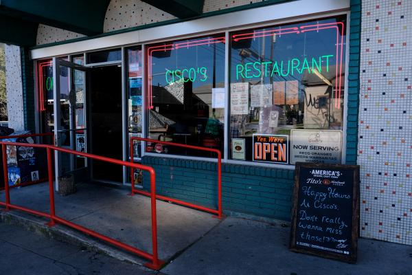 Cisco's Restaurant on East Sixth Street was officially designated a historic landmark Monday.