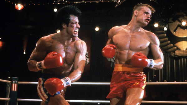 """Dolph Lundgren's performance in <em>Rocky IV</em> as Ivan Drago — """" the """"blond beast with flatiron hair and perfect muscles,"""" as one critic wrote — """" made a big impression on American audiences"""