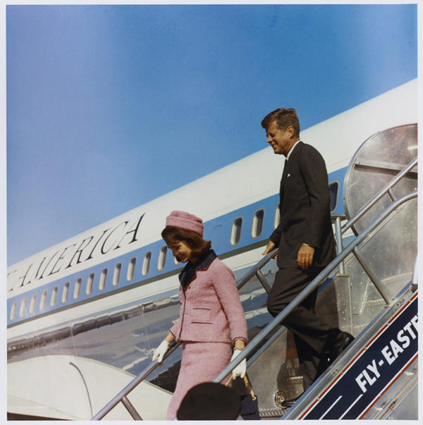 The Kennedys arrived at Dallas Love Field.