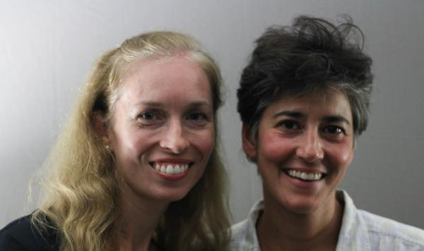 In a StoryCorps conversation in 2016, Etaine Raphael (left) and Adele Levine reflected on their time as civilian physical therapists working with soldiers who had been severely injured while serving in Iraq and Afghanistan.