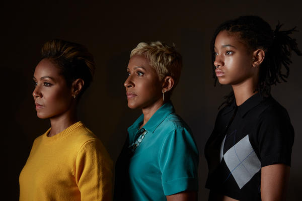 The hosts of Red Table Talk are (from left) Jada Pinkett-Smith, her mother, Adrienne Banfield-Norris, and her daughter Willow Smith.