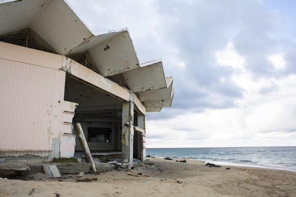 Remains of La Pescaderia, a community center in Loiza, Puerto Rico. The island will receive nearly $20 billion from the U.S. Department of Housing and Urban Development to help rebuild after Hurricane Maria ravaged the island in September 2017.