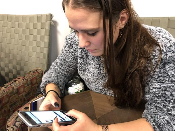 After a presentation from activists, Boston University sophomore Blaire Thomas looks at the HandsOffIX website, which offers a Mad Lib-style template to comment on proposed changes to federal rules on how campuses handle cases of sexual assault and harassment.