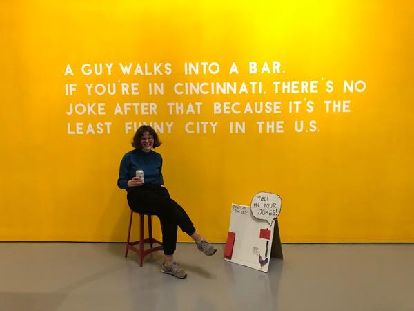 Artist Sophie Lindsey says humor is an important part of the art she makes.