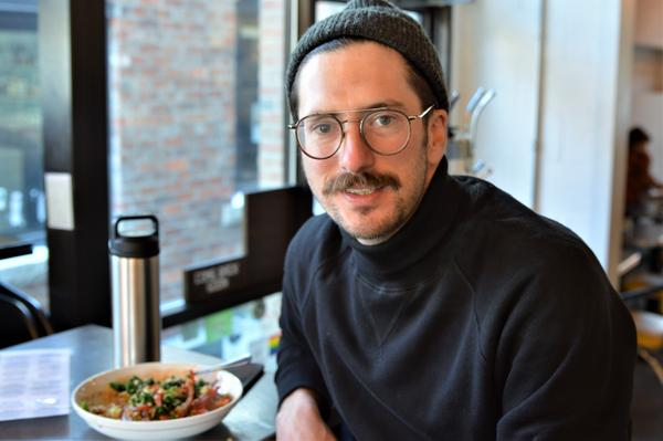Drew Johnson says he's eating more plant-based food out of concern for the environment.