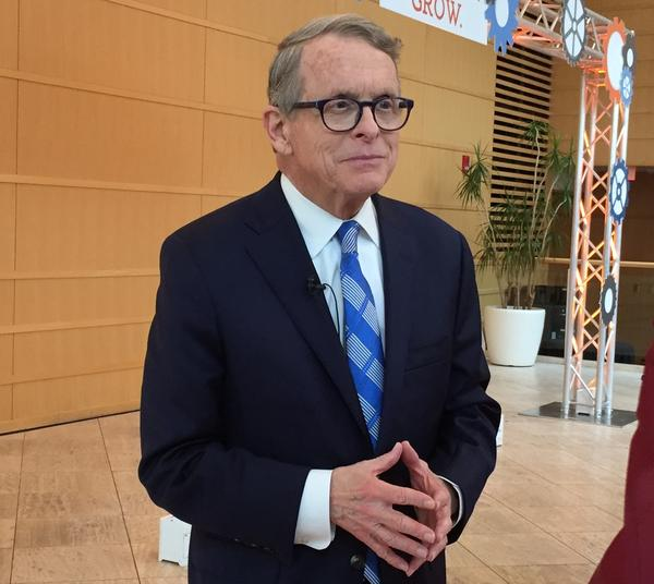 Gov. Mike DeWine in Dayton.