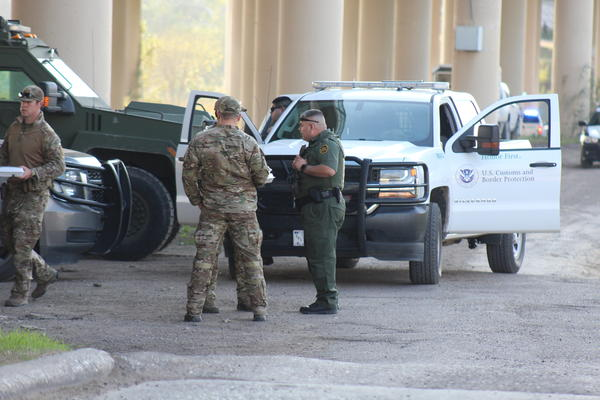 Army soldiers are supporting border personnel in Eagle Pass, Texas.