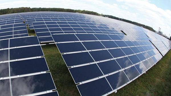 This solar farm outside of Baldwin is owned by PSEG Solar Source LLC and sells power to JEA.
