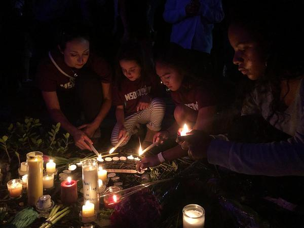South Florida remembered the lives of the 17 victims killed in the shooting at Marjory Stoneman Douglas High School at a vigil held at Pine Trails Park in Parkland on Thursday, the one-year anniversary of the tragedy.