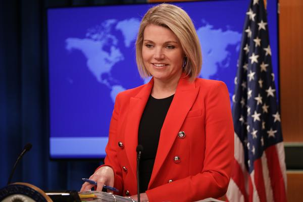 Department of State Spokesperson Heather Nauert withdrew herself from consideration for the nomination of U.S. ambassador to the U.N. on Saturday.