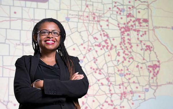 Andrea Roberts, professor of urban planning and leader of the Texas Freedom Colonies Project at Texas A&M University