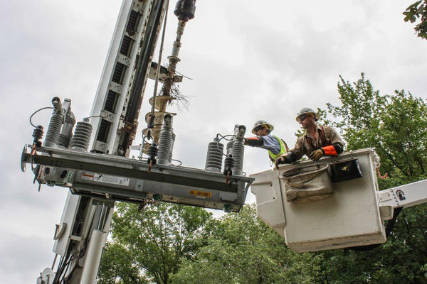 Ameren workers will install smart-grid technology in the utility's $5 billion plan to upgrade the state's electrical grid.