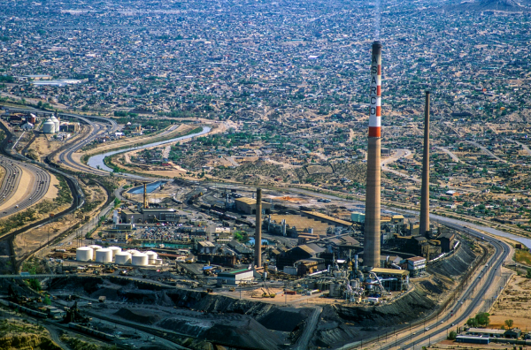 ASARCO smoke stacks in El Paso