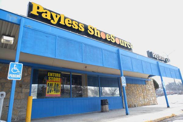 A Payless ShoeSource location inside Kansas City's The Landing Mall advertises liquidation sales on Monday, Feb. 18, 2019.