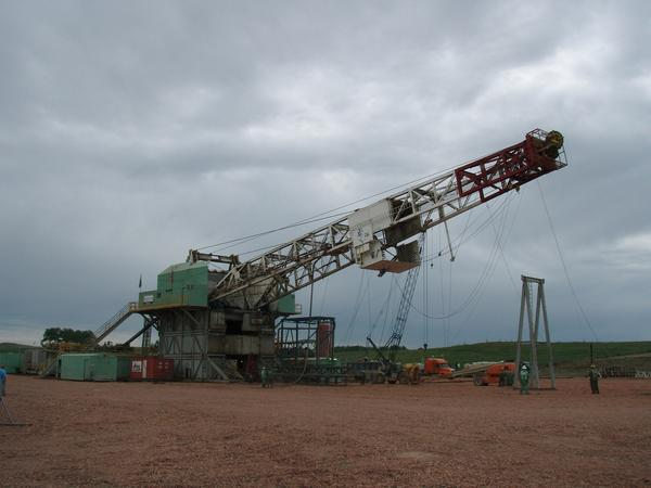 Oil derrick in the Bakken region