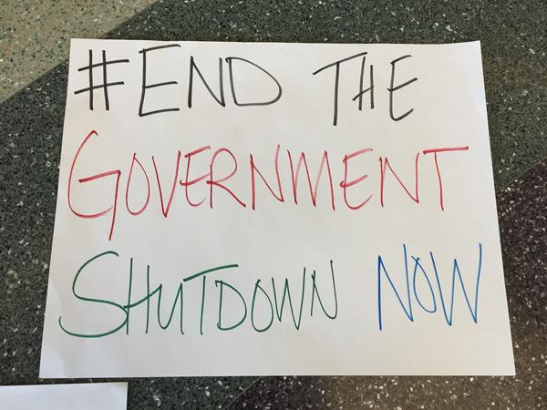 A sign during the five-week government shutdown.