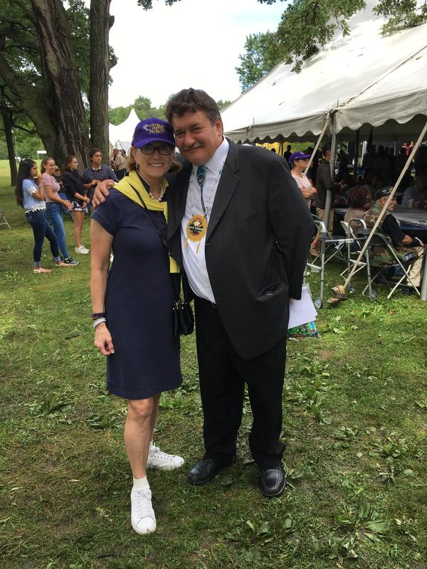 Karen LLoyd, Director of the Veterans History Project at the 2018 4th annual National Gathering of American Indian Veterans in Illinois.  VHP worked in concert with the National Museum of the American Indian to collect interviews there in 2017, and 2018.