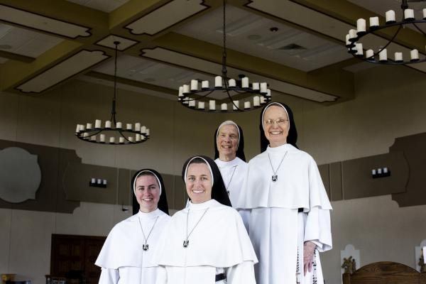 Mother Assumpta Long, Sister Joseph Andrew Bogdanowicz, Sister Irenaeus and Sister Murray (l-r), members of the Dominican Sisters of Mary at the Georgetown Convent north of Austin.