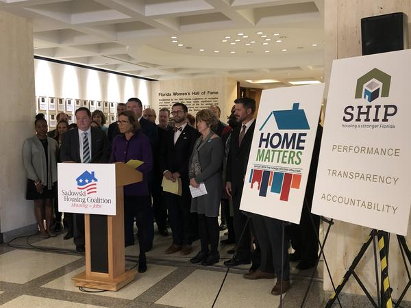 Jaimie Ross, president and CEO of the Florida Housing Coalition, and facilitator of the Sadowski Coalition, urged lawmakers to fully allocate the state's housing trust fund for housing.