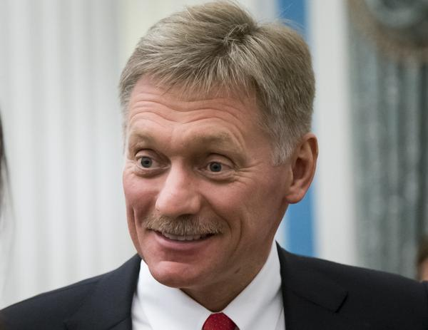 Russian President Vladimir Putin's spokesman Dmitry Peskov, after a 2018 presidential awards ceremony in Moscow. On Wednesday, he said the U.S. has carried out a number of cyberattacks on Russian organizations and people.
